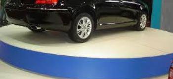 Plataforma giratória para garagem