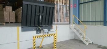 Plataforma niveladora de doca manual